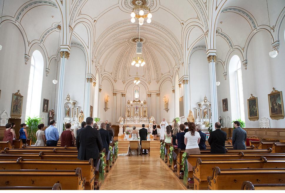 Cérémonie religieuse au Bas-Saint-Laurent.