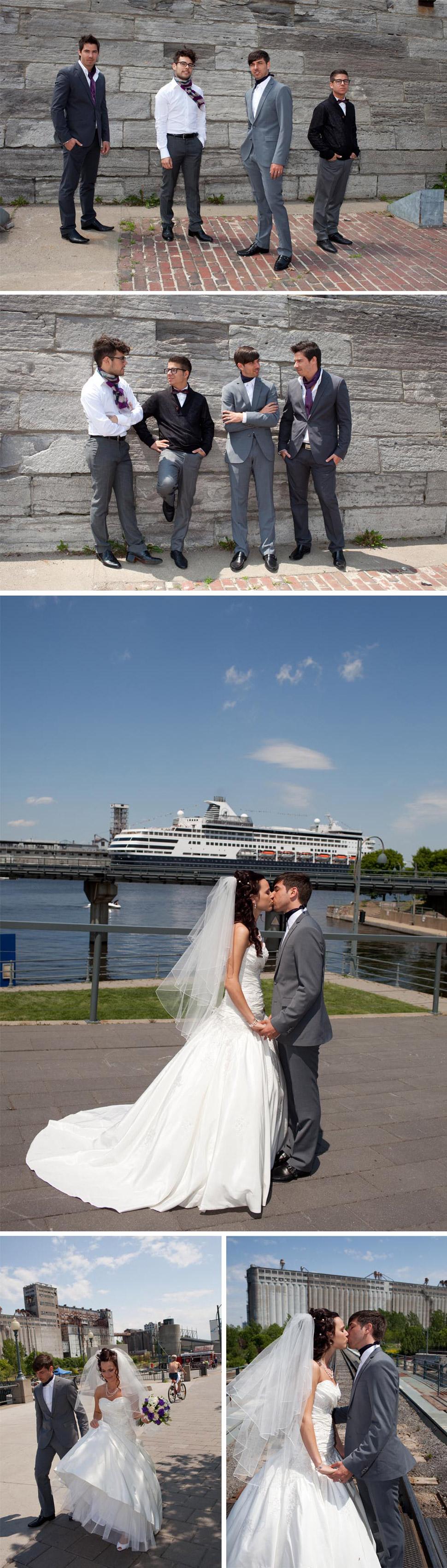 Séance de couple près du fleuve Saint-Laurent.
