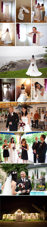 Mariée au parc de la Plage-Jacques-Cartier.