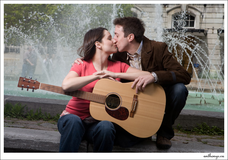 Creative engagement photography.