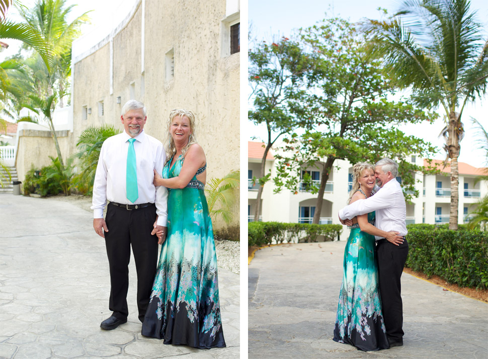 Engagement session in a caribbean resort