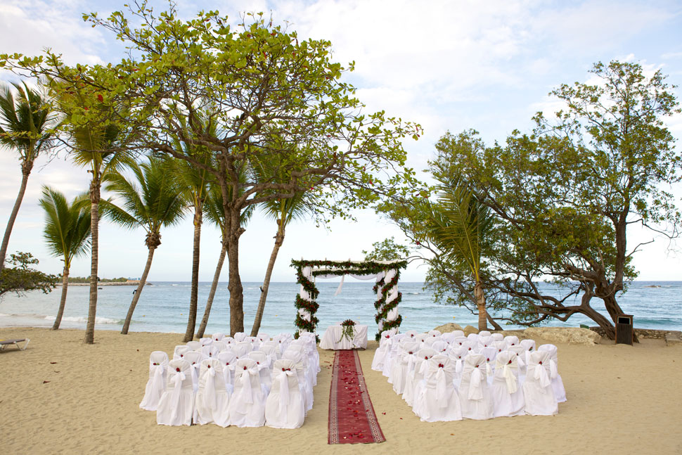 Wedding ceremony on the beach at Puerto Plata