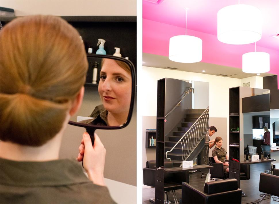 Maquillage et coiffure de la mariée au spa Aveda