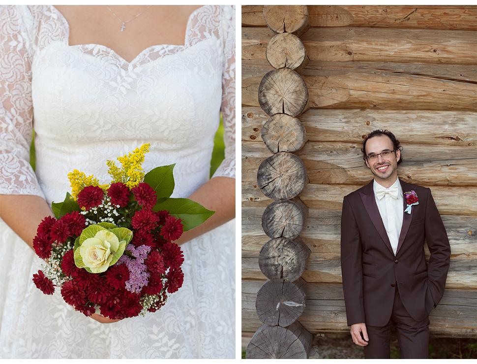 Fleurs de mariage.
