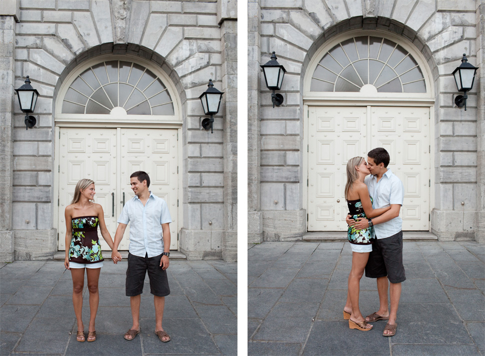 Fabulous engagement session in Old Montreal.