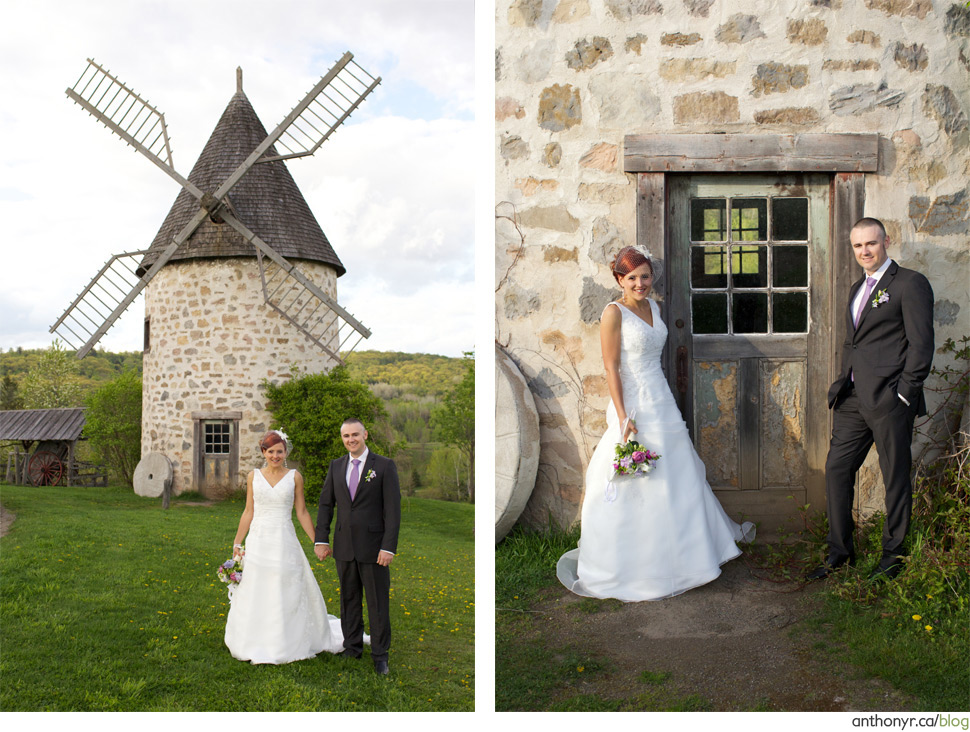 Wedding near a windmill.