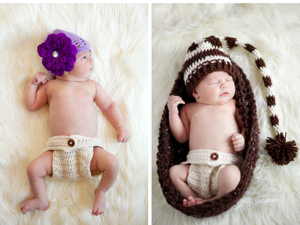 Modern newborn photography shot with available light on location.