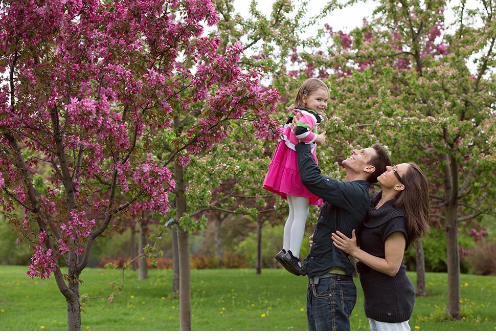 Photo de famille prise par un photographe professionnel.