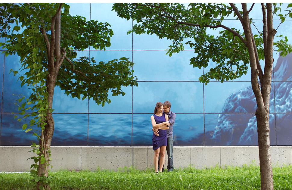 Romantic pre-wedding picture.