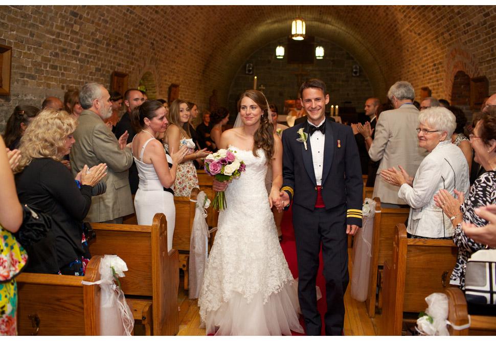 Mariage militaire à la chapelle de la Citadelle de Québec.