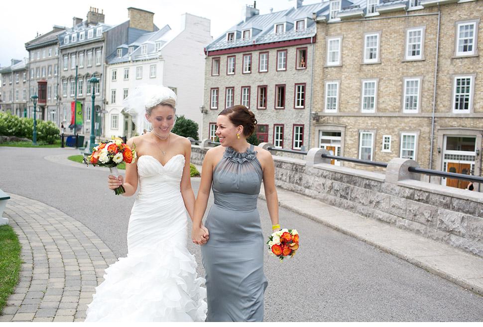 Mariage extérieur au pied de la Citadelle de Québec.