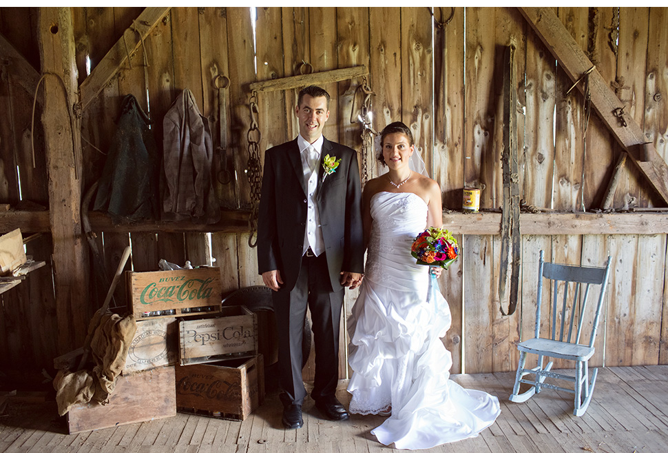 Barn wedding in Canada.