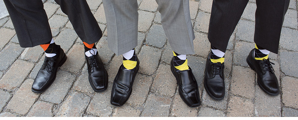 Wedding socks.