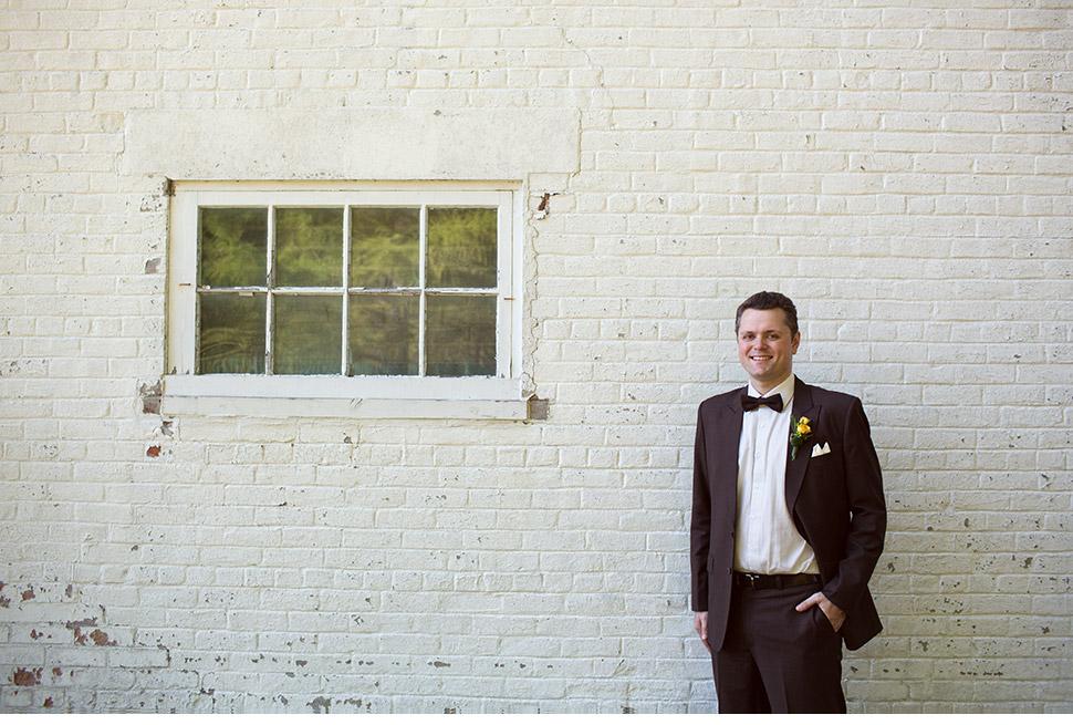 Creative groom portrait.