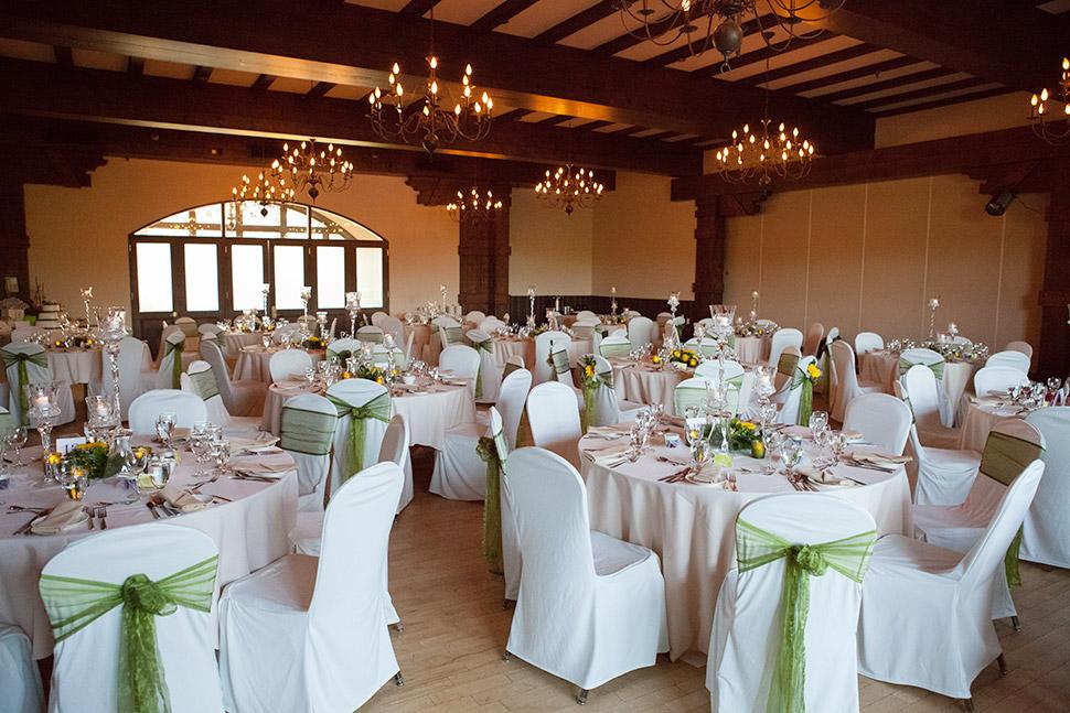 Salle de réception de mariage.