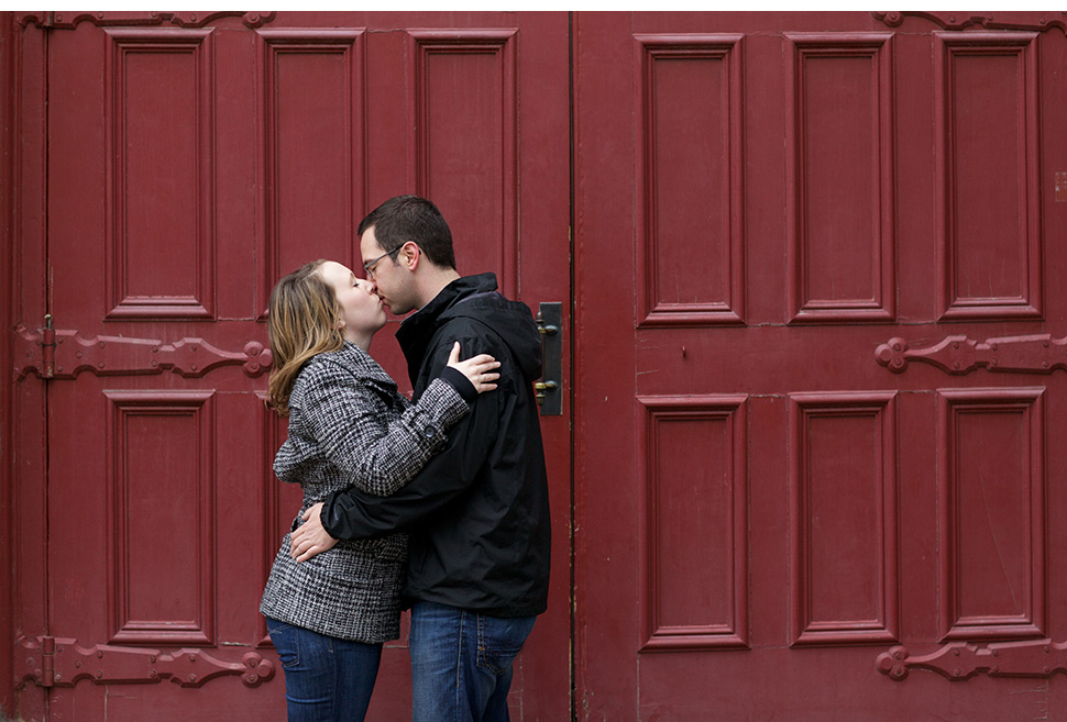 Romantic proposal in Old Quebec.