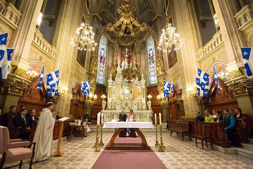 Cérémonie religieuse à Québec.