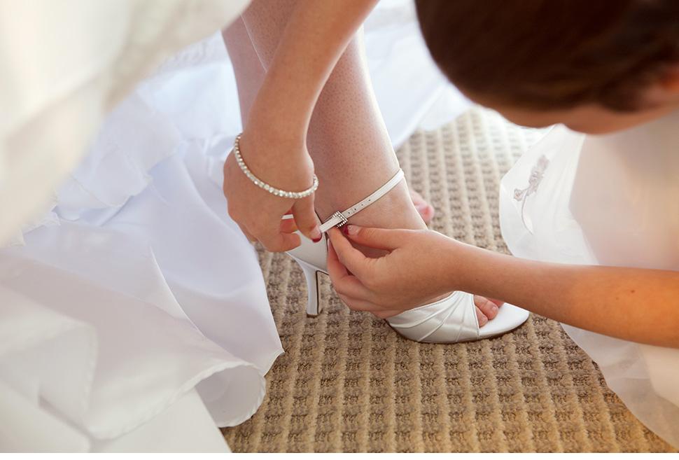 Préparatifs de la mariée à l'hôtel.