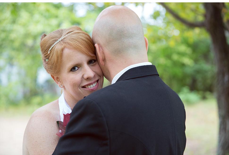 Beautiful wedding near a lake.