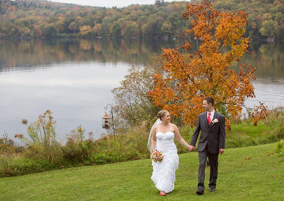 Mariage d'automne campagnard.