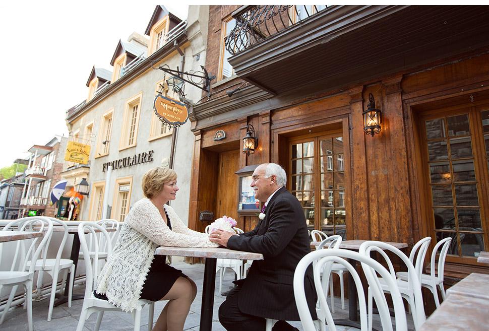 Mariage dans le quartier Petit Champlain.