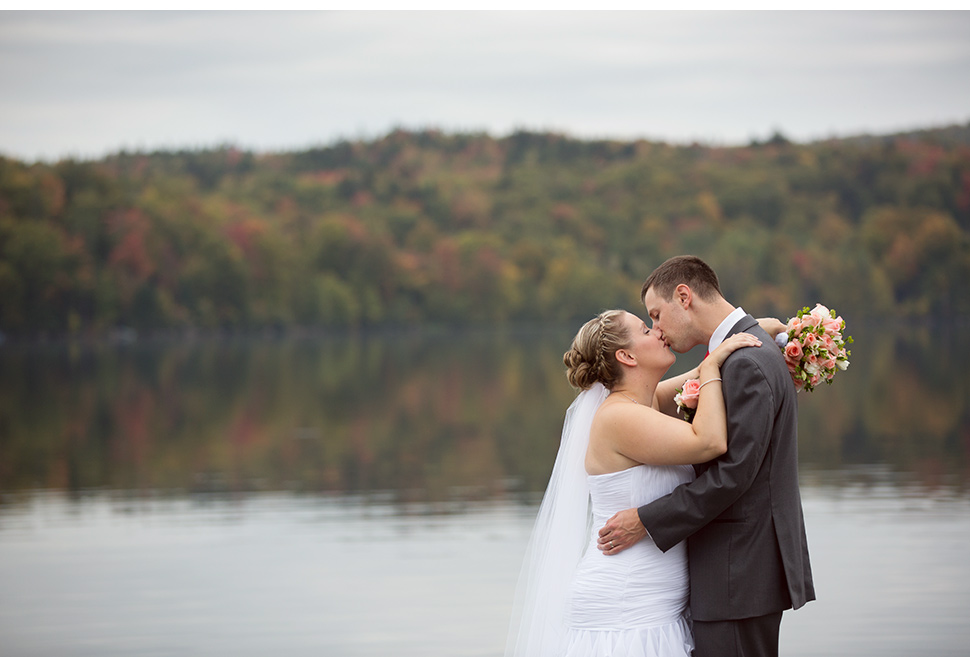 Fall season outdoor wedding.