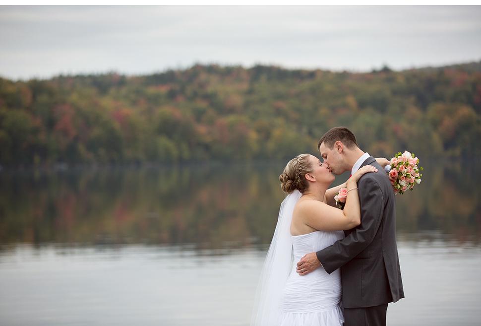 Fall season outdoor wedding.