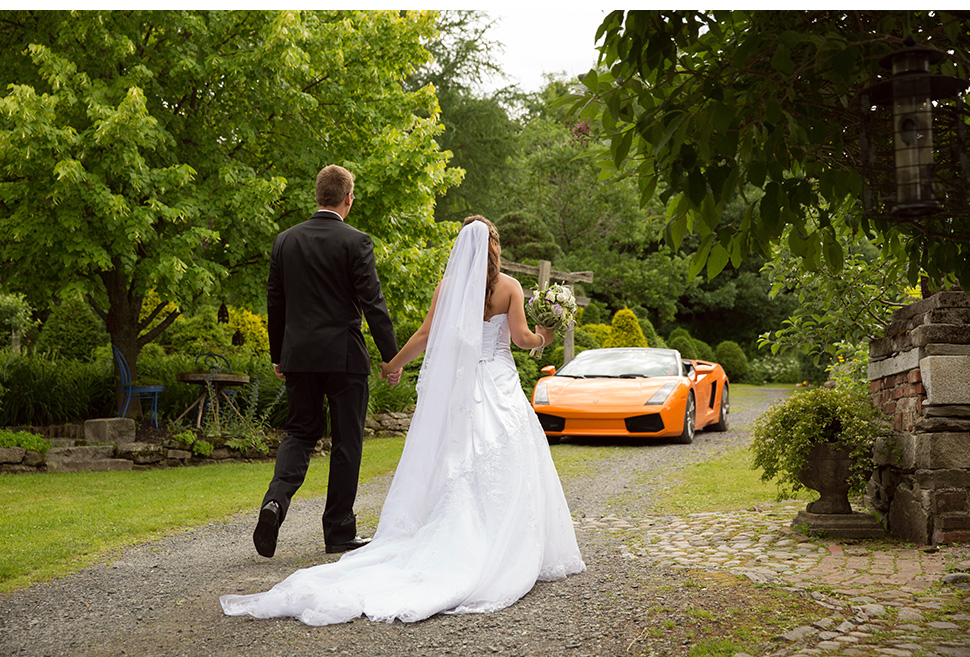 Luxury wedding sport car.