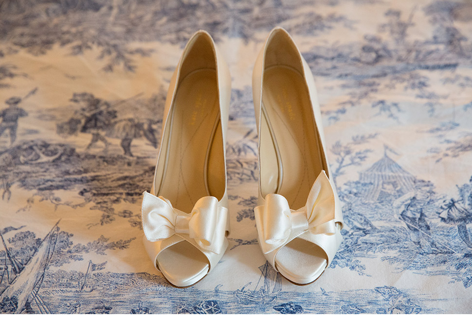 Bridal shoes.