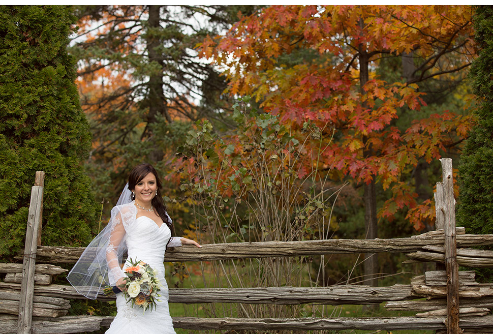 Rustic fall wedding.