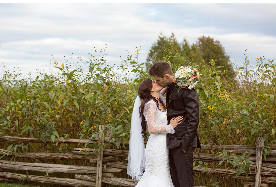 Mariage rustique à la campagne.