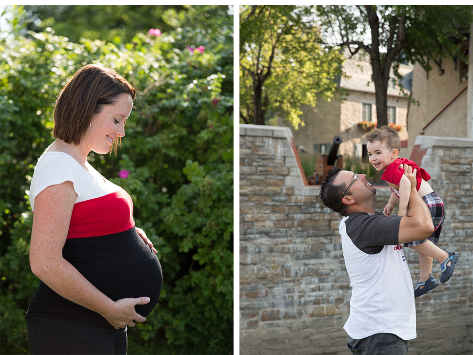 Femme enceinte.