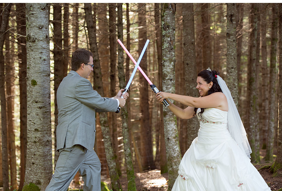 Mariage thématique Star Wars.
