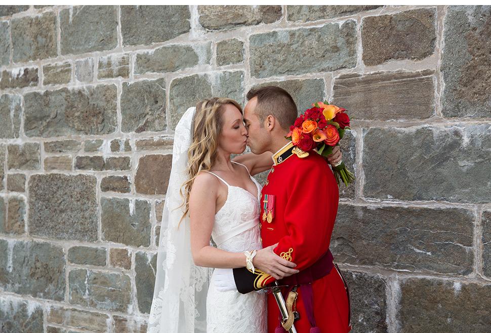 Mariage militaire à Québec.