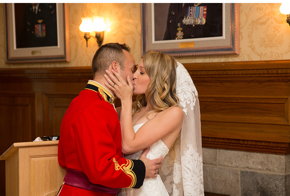 First kiss during ceremony.