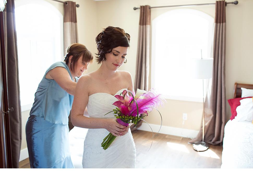 Préparatifs de la mariée.