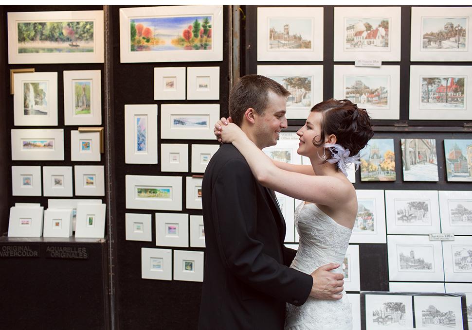 Mariage dans le Vieux-Québec.