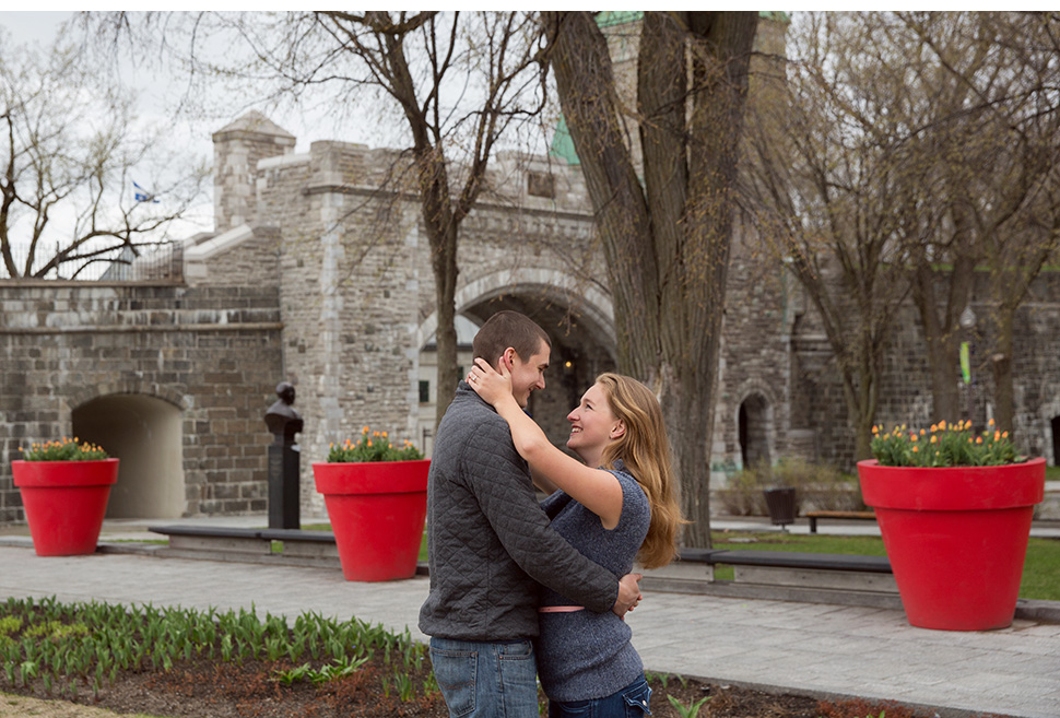 Quebec City engagement session.