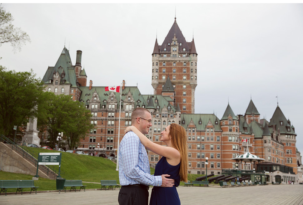 Wedding proposal in Old Quebec.