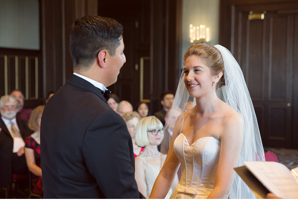 Civil ceremony at the Château Frontenac.