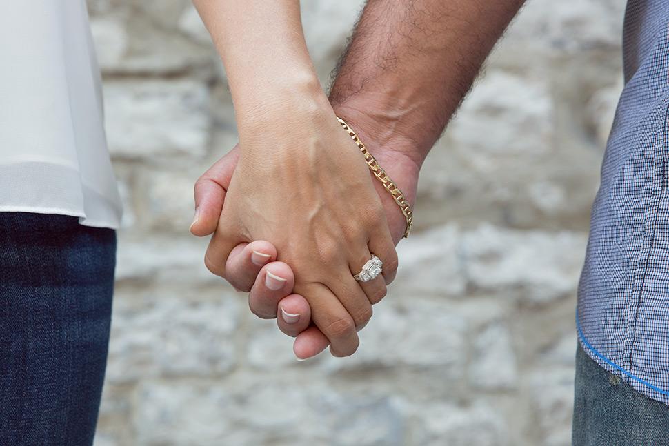 Photographie de fiançailles au Canada.