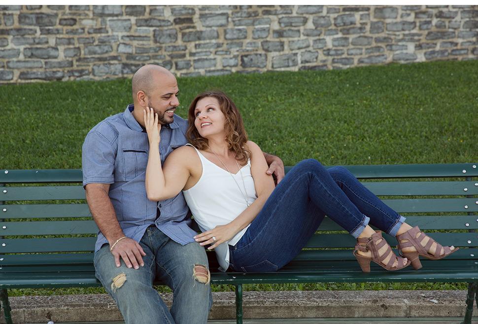Futurs mariés photographiés à Québec.