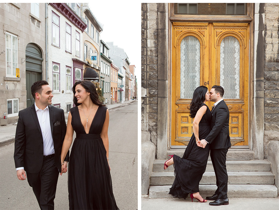 Awesome engagement session in Old Quebec.