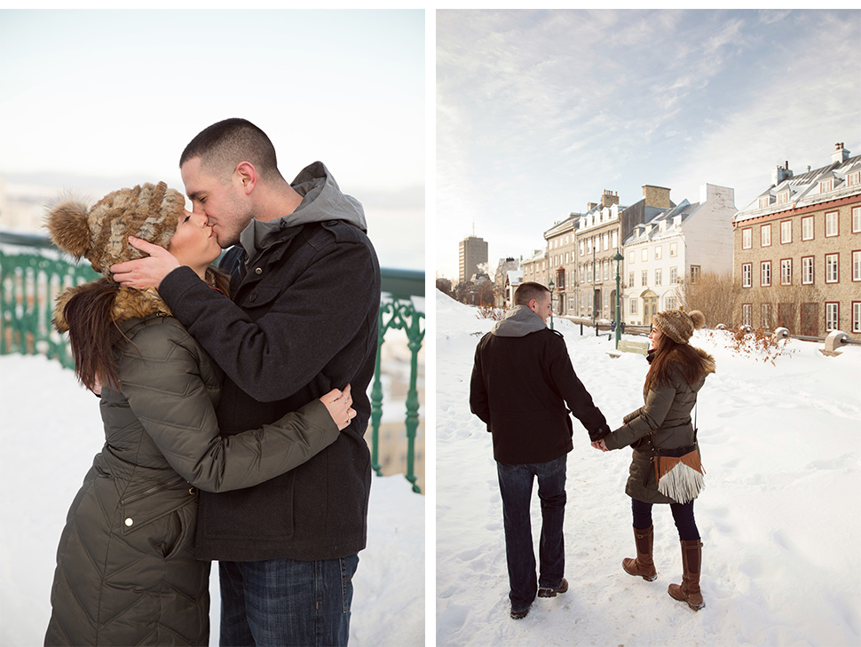 Romantic winter day in Quebec City.