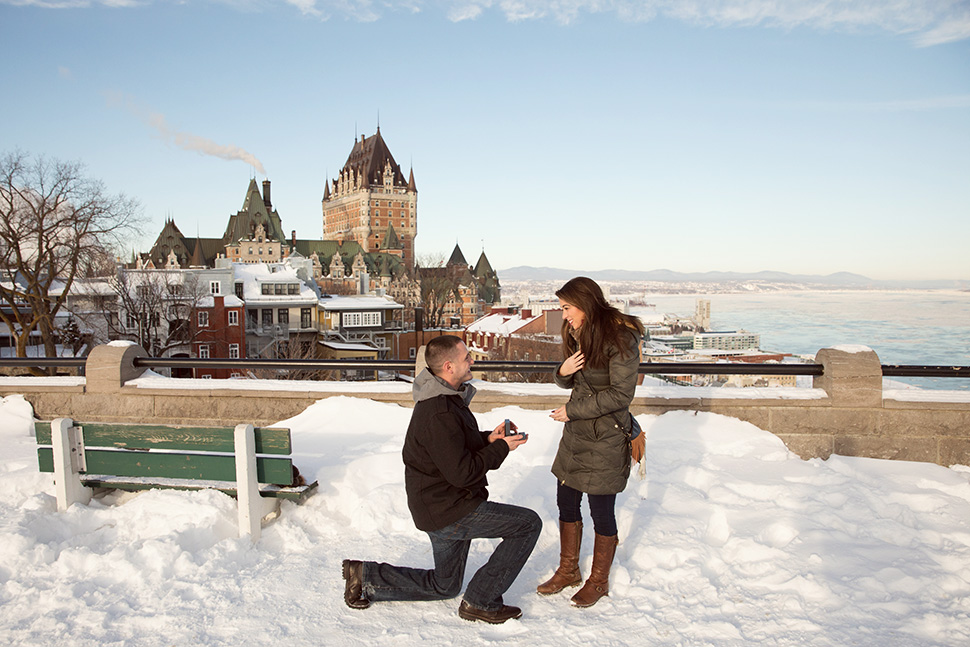 Château Frontenac in winter.