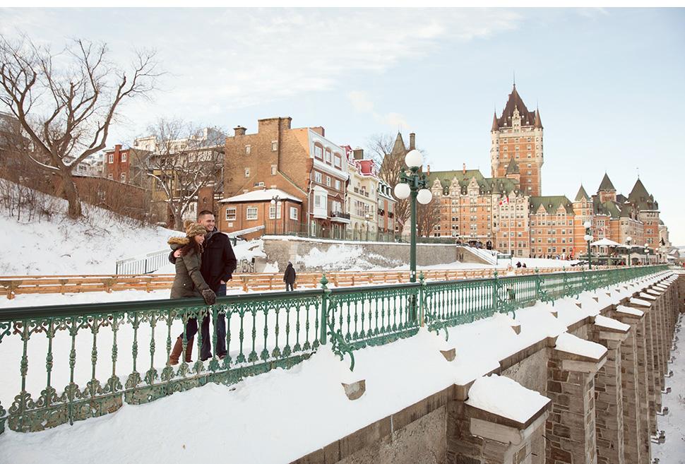 Terrasse Dufferin en hiver.